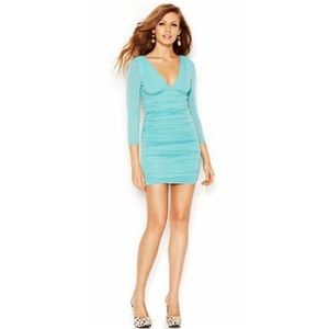 GUESS 3/4 Sleeve Empire Waist Bodycon Dress